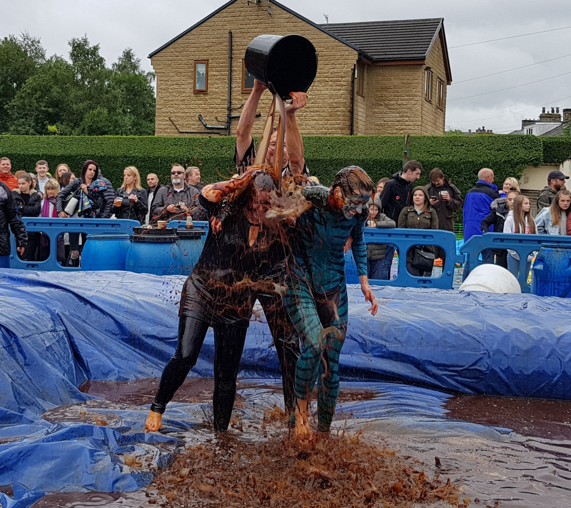 Gravy Wrestling 2018 - Bat Girl Blue dab a dee 1