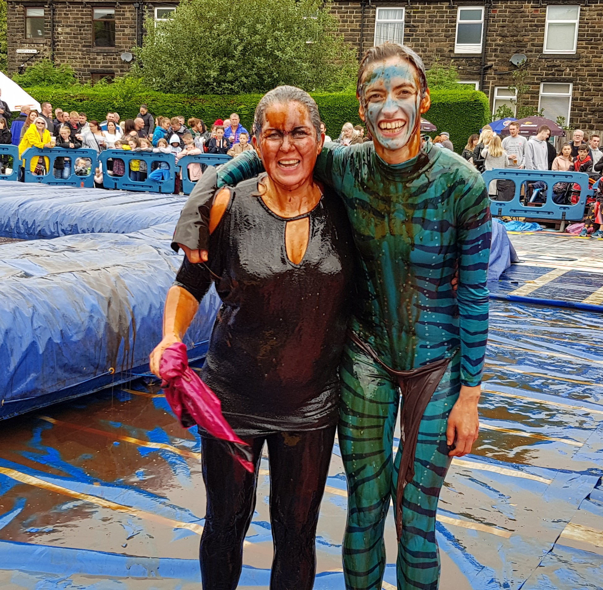 Gravy Wrestling 2018 - Bat Girl, Blue dab a dee 2