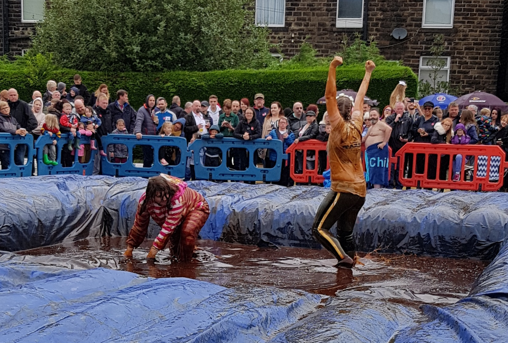 Gravy Wrestling 2018 - Cheshire cat Yorkshire Rose