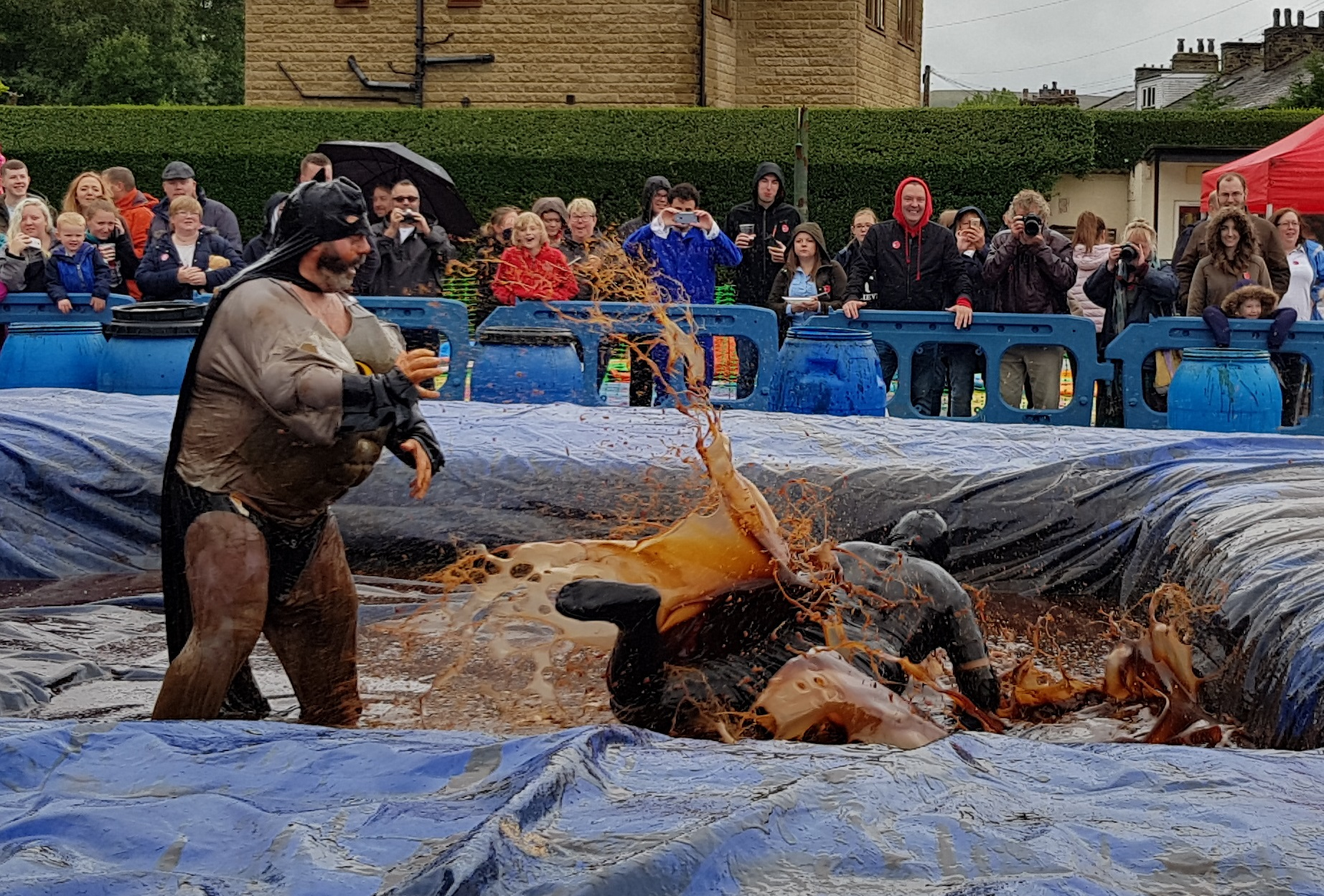 Gravy Wrestling 2018 - Fat Man and the All Black Pudding