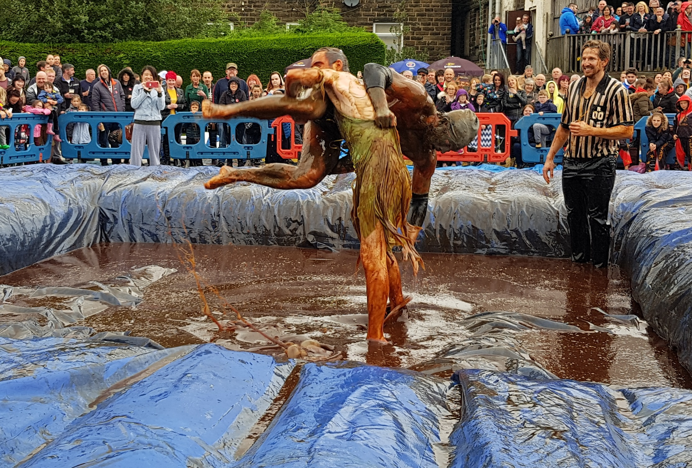 Gravy Wrestling 2018 - Gravy Hairy Fairy Mud Man 6