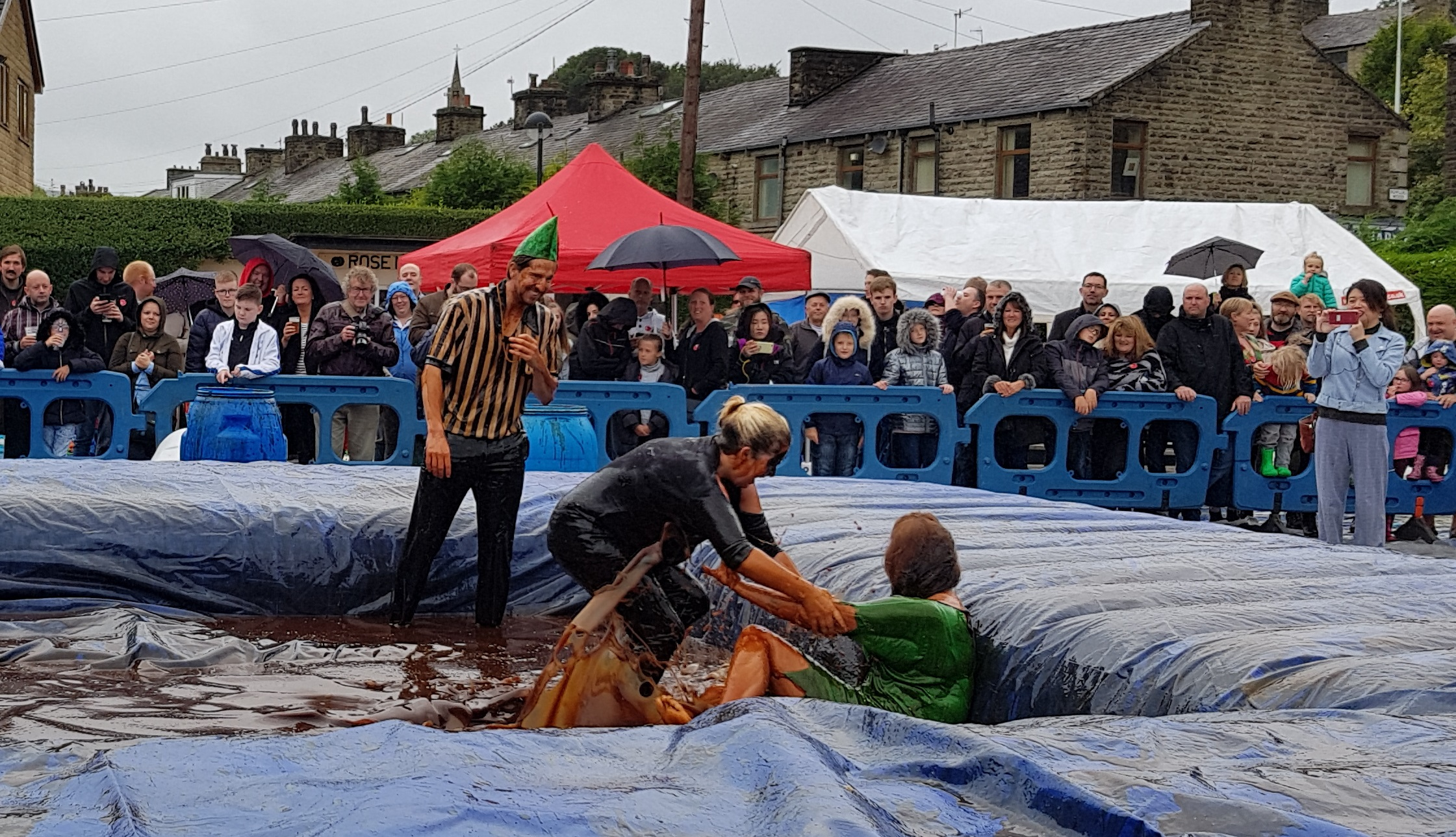 Gravy Wrestling 2018 - Gravy Hairy Fairy Mud man 10