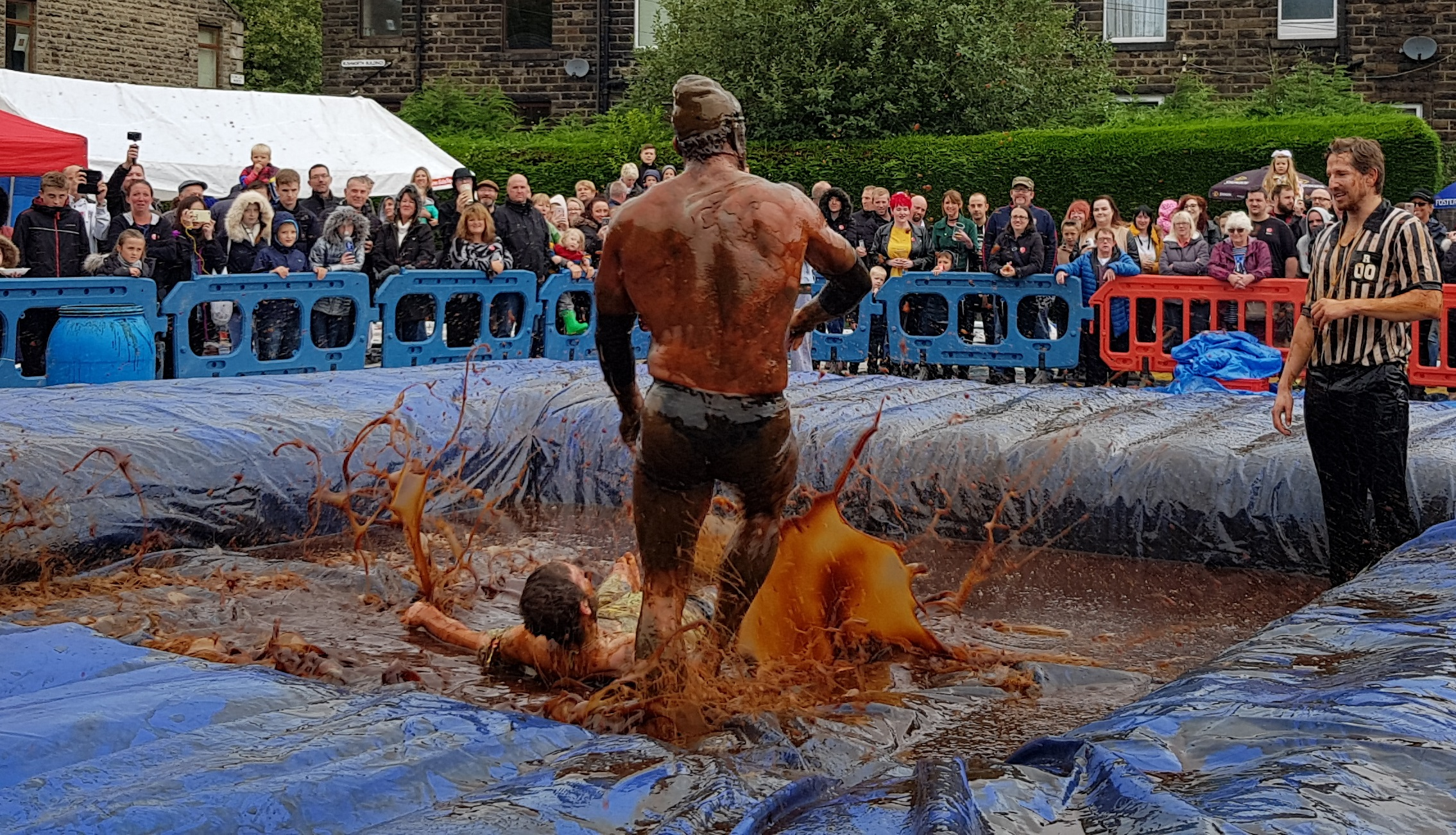 Gravy Wrestling 2018 - Gravy Hairy Fairy Mud man 5
