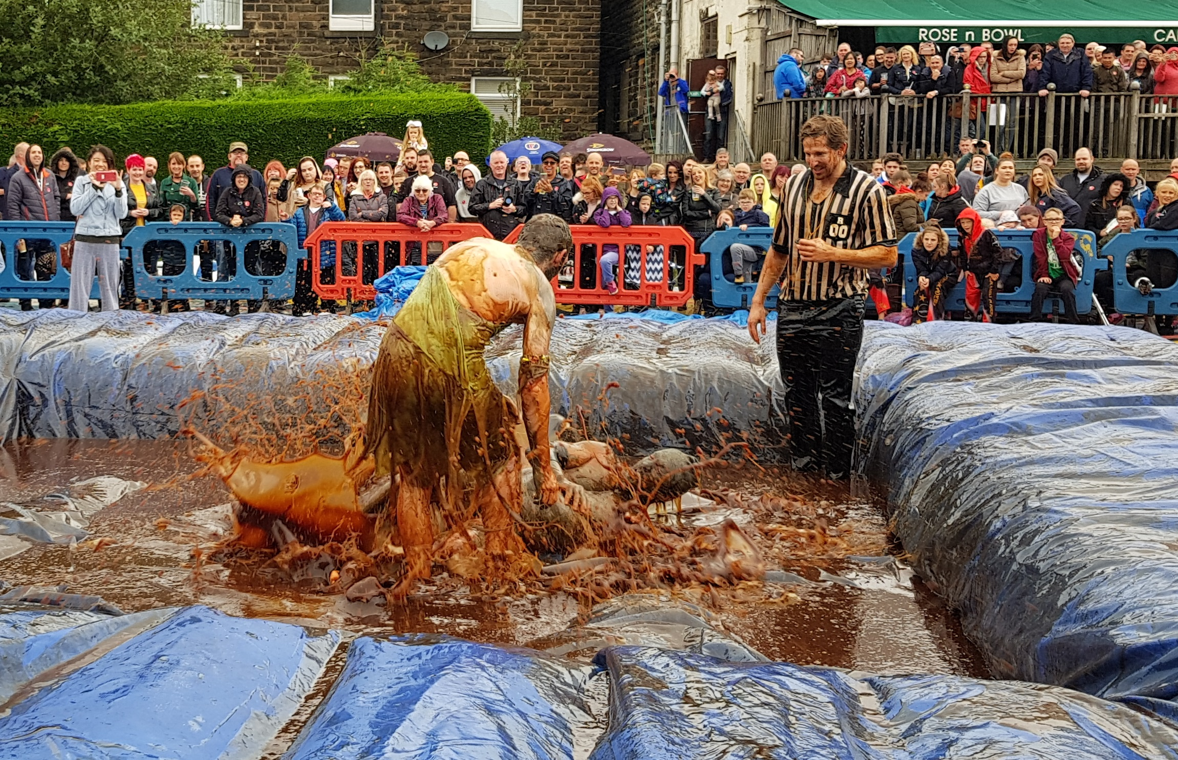 Gravy Wrestling 2018 - Gravy Hairy Fairy Mud man 7