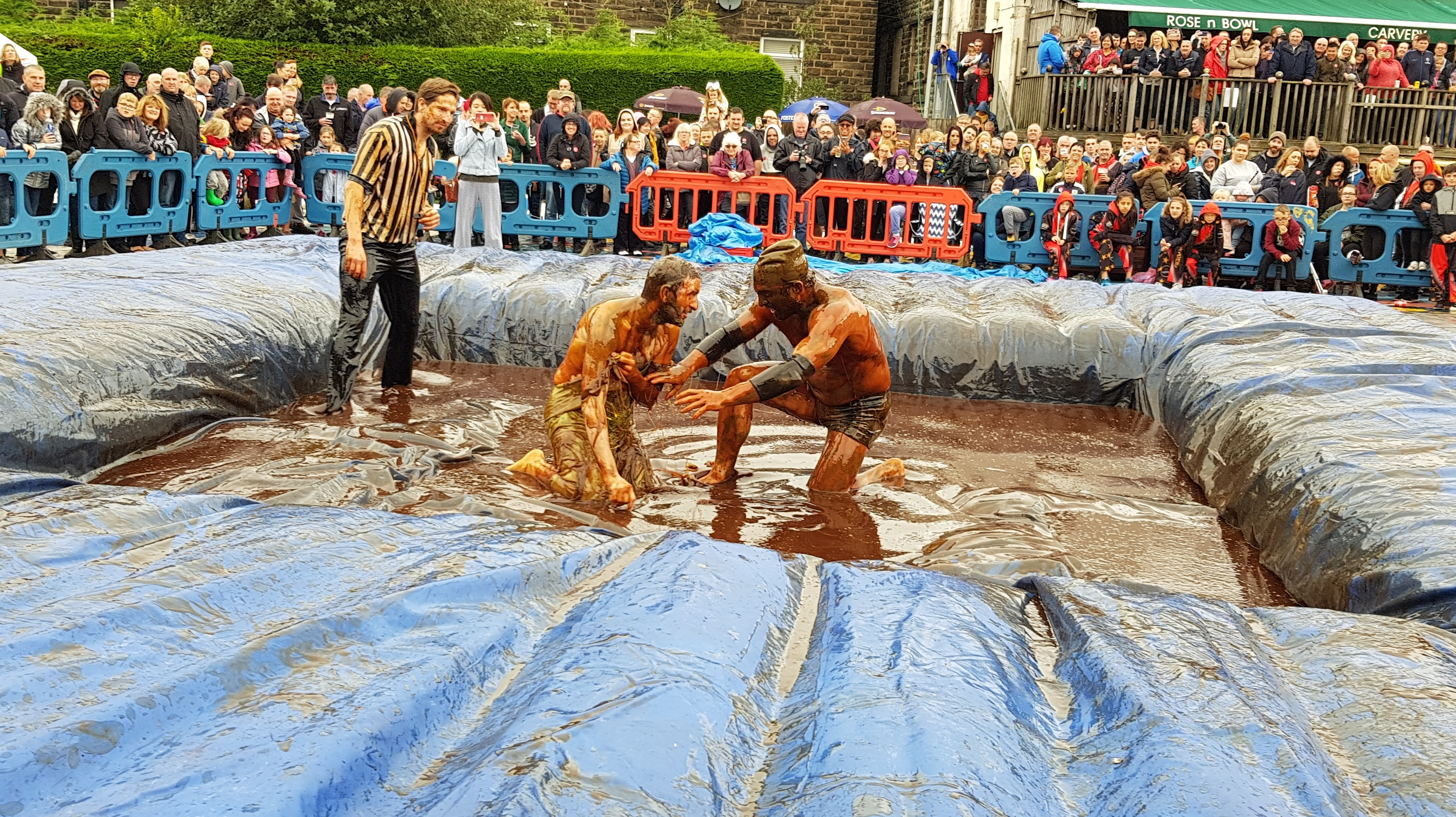 Gravy Wrestling 2018 - Gravy Hairy Fairy Mud man 8