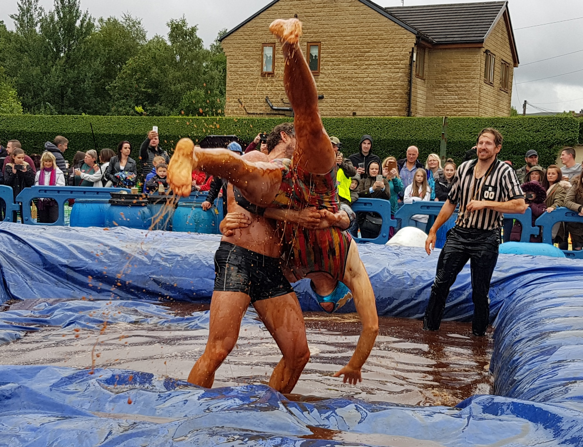 Gravy Wrestling 2018 - Mud Man Evil Punisher 2