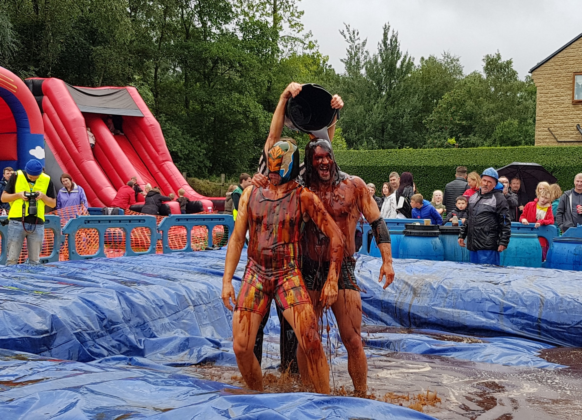 Gravy Wrestling 2018 - Mud Man Evil Punisher 4