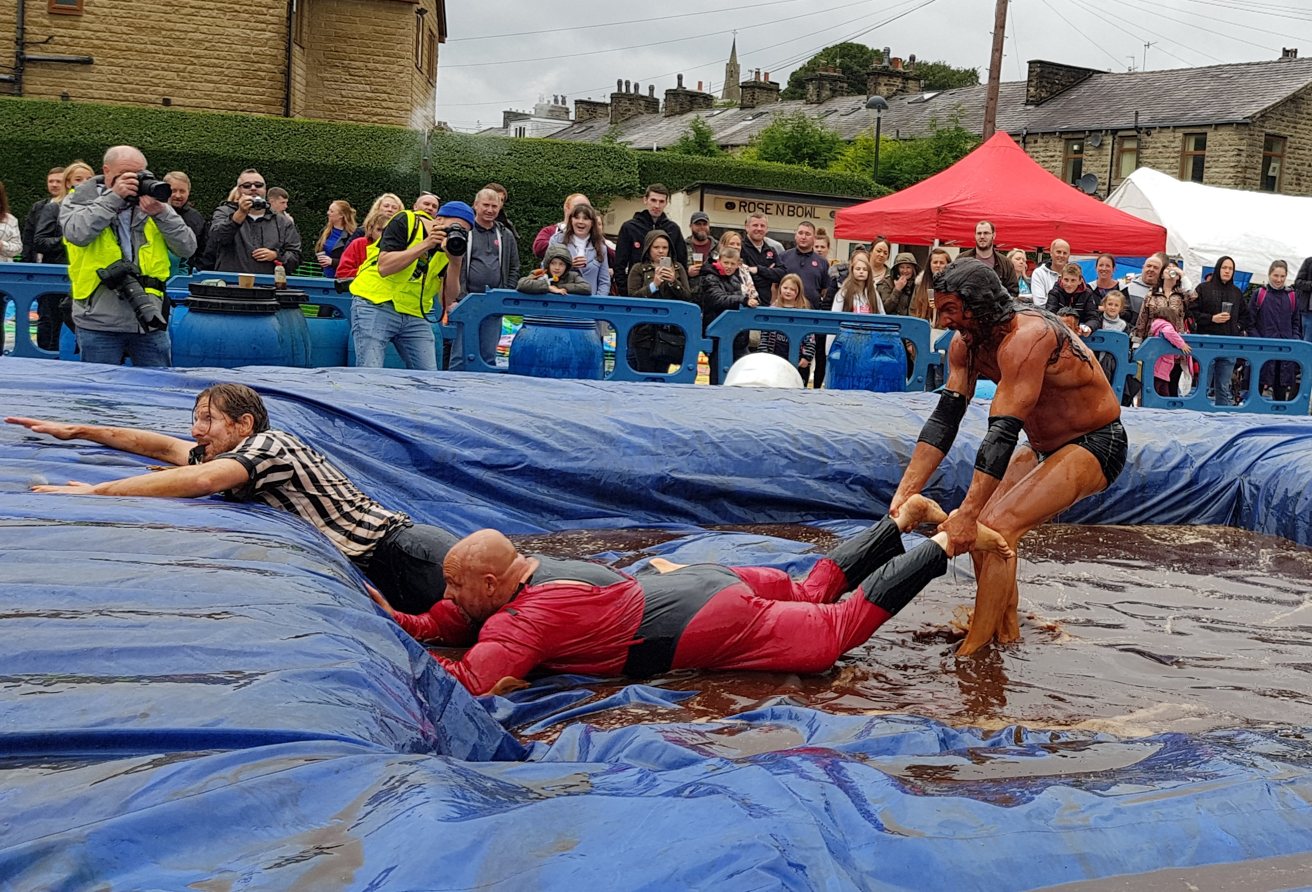 Gravy Wrestling 2018 - Mud Man INcredibly slippy 5