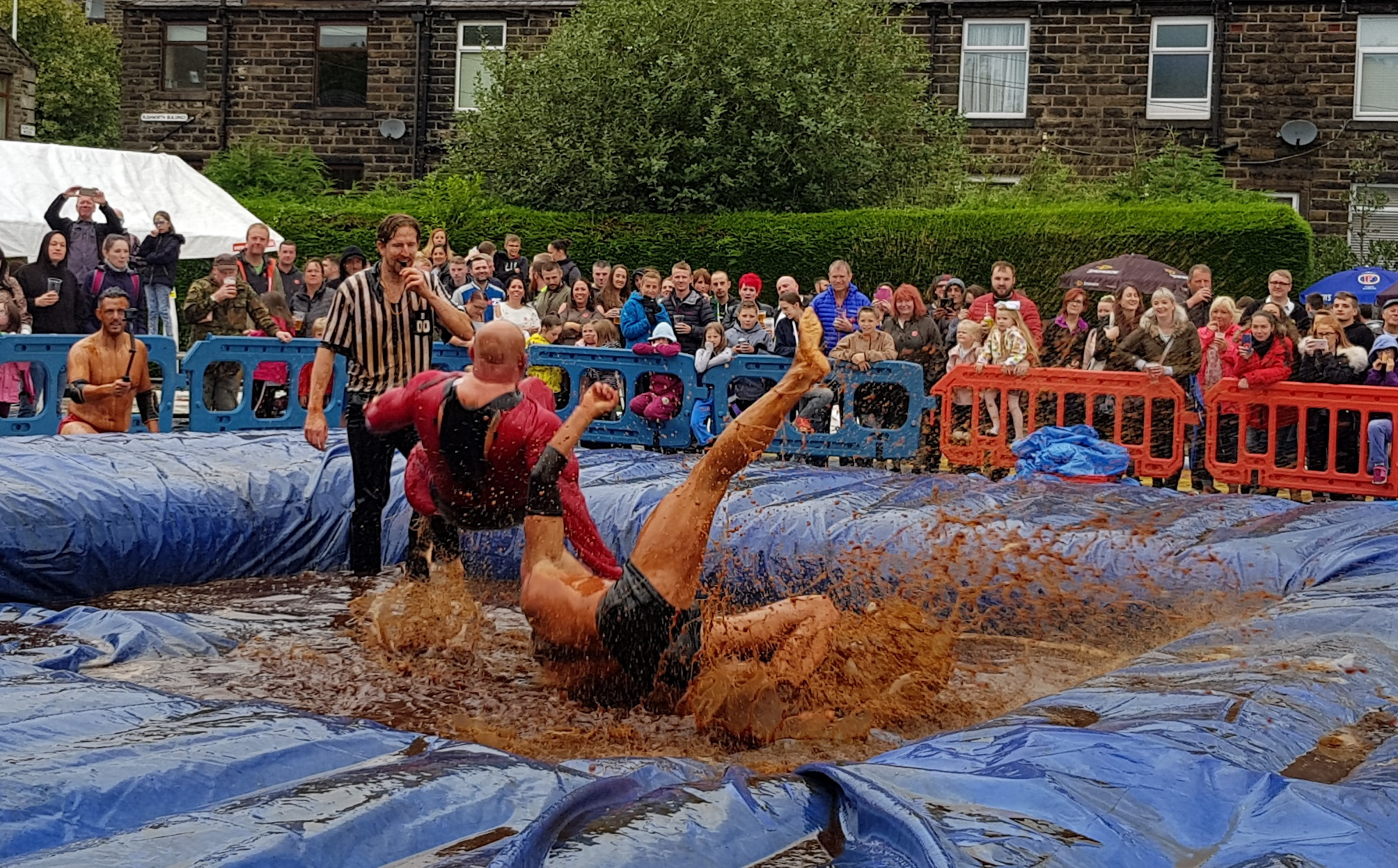 Gravy Wrestling 2018 - Mud Man Incredibly slippy 4