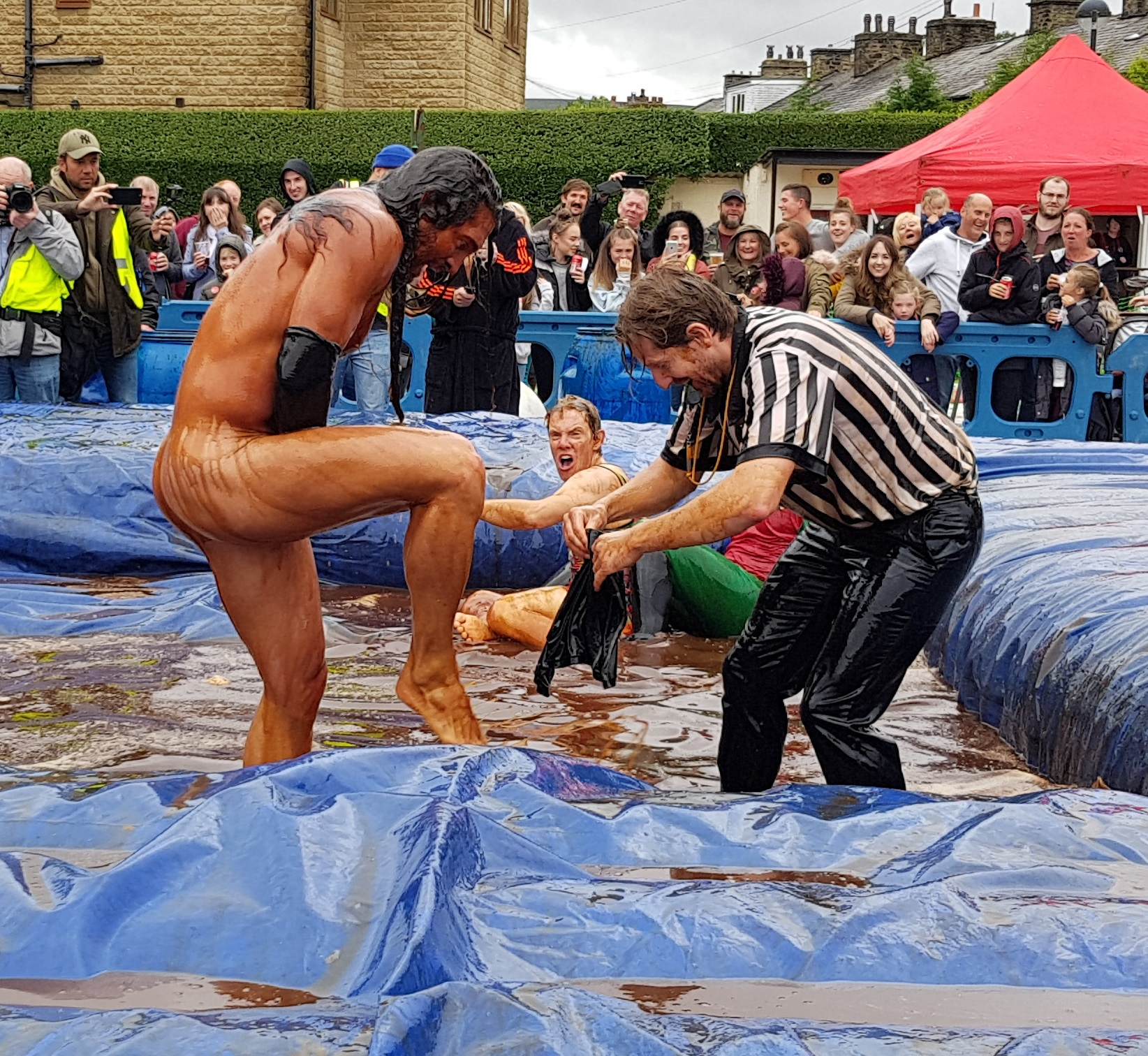 Gravy Wrestling 2018 - Mud Man and Evil Punisher 4