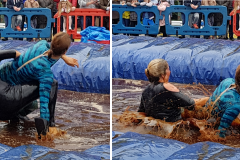 Gravy Wrestling 2018 - Blue dab a dee and bat girl Collage