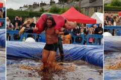 Gravy Wrestling 2018 - Mud Man and incredibly slippy 2 Collage